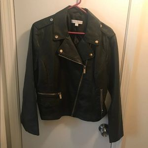 Faux leather jacket new york & company